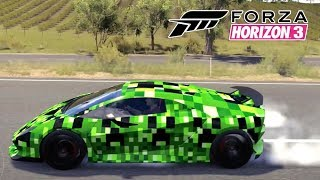 Lamborghini Sesto Elemento do Creeper Minecraft - Forza Horizon 3 PC