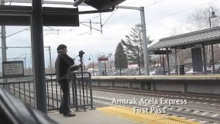 Amtrak Acela Express & Northeast Regional at High Speed CLOSE UP