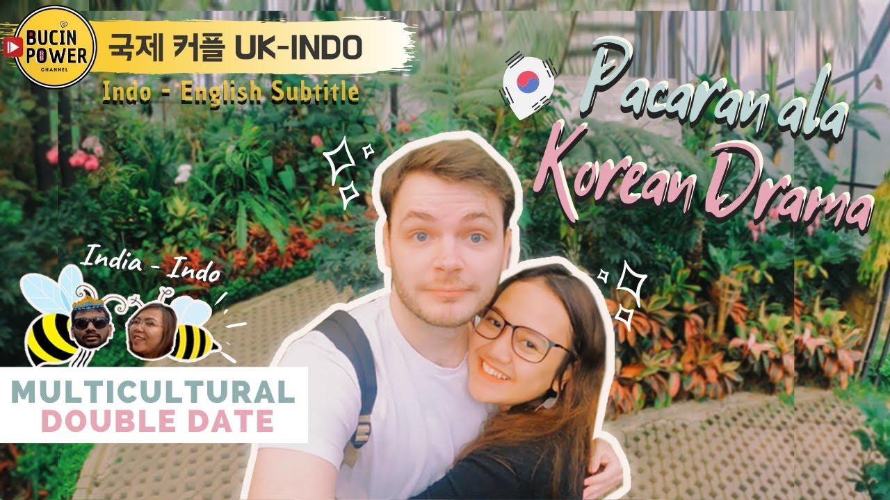 LDR Meeting Indonesia- UK  First Time Double Date dgn Org INDIA   Pasangan Romantis ala Drama Korea - YouTube
