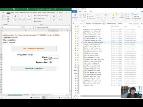 PDF Statements Generator with automation in Excel