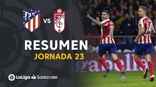 Resumen de Atlético de Madrid vs Granada CF (1-0)