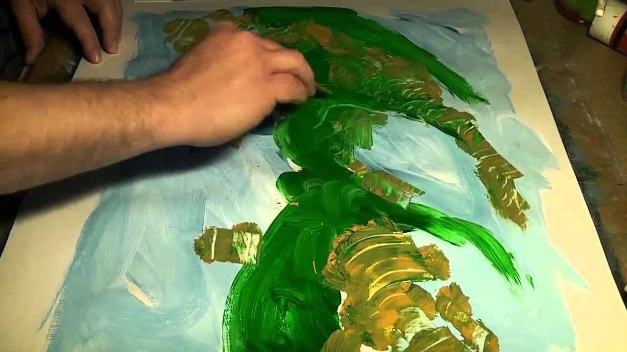 Acr licos colores y texturas abstracto con esp tula for Imagenes de cuadros abstractos faciles