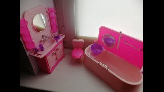 Набор мебели - ванная для куклы барби