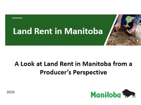 Land Rent In Manitoba From A Producer's Perspective