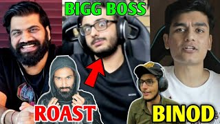 CarryMinati Roast Amir Siddiqui & Carry On Bigg Boss 14? | BINOD, MortaL, Tik Tok, Live Insaan, R2h