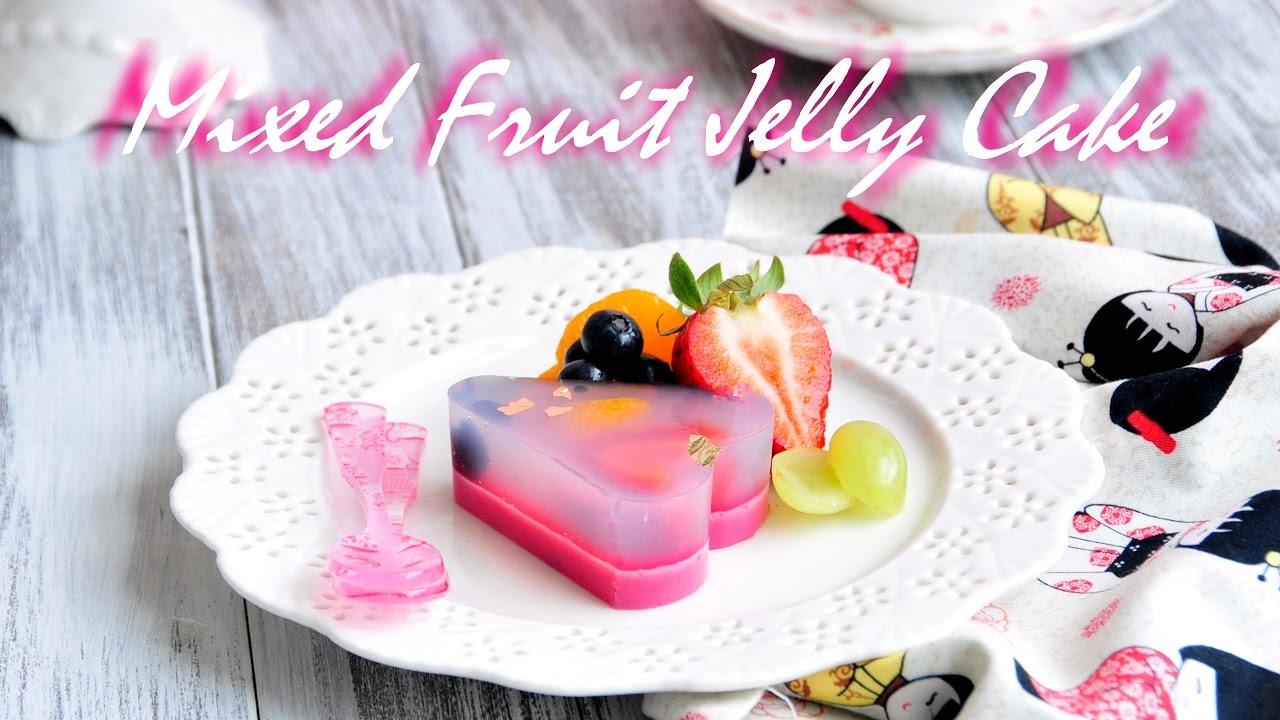 How To Make Mixed Fruit Jelly Cake 櫻花雜果大菜糕 Youtube