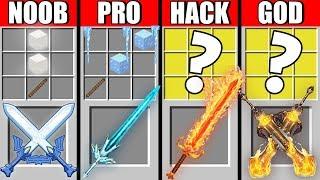 Minecraft NOOB vs PRO vs HACKER vs GOD ELEMENTAL SWORD CRAFTING MONSTER MUTANT CHALLENGE / Animation