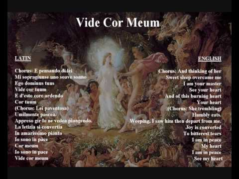 Vide Cor Meum - original libretto in Italian / latin with tr
