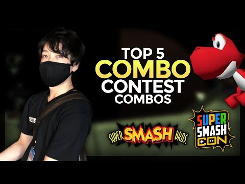 Top 5 Combo Contest Combos - Super Smash Con 2018 (ft. Prince, the 64 combo master)
