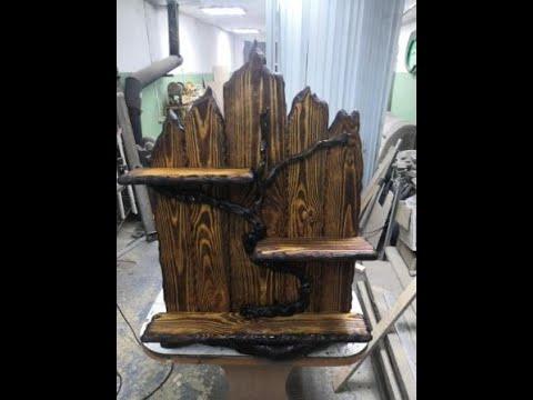 Этажерка своими руками из дерева под старину