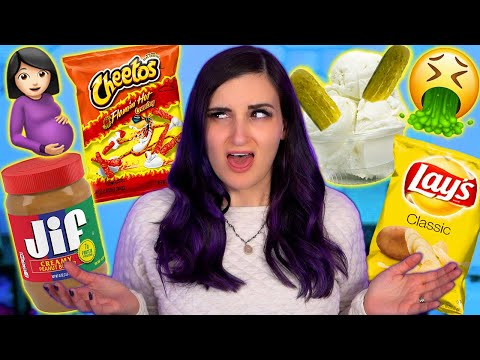 Pregnant Woman Tries WEIRD Pregnancy Cravings