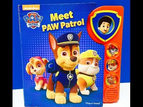 Meet Paw Patrol Play A Sound Story Book