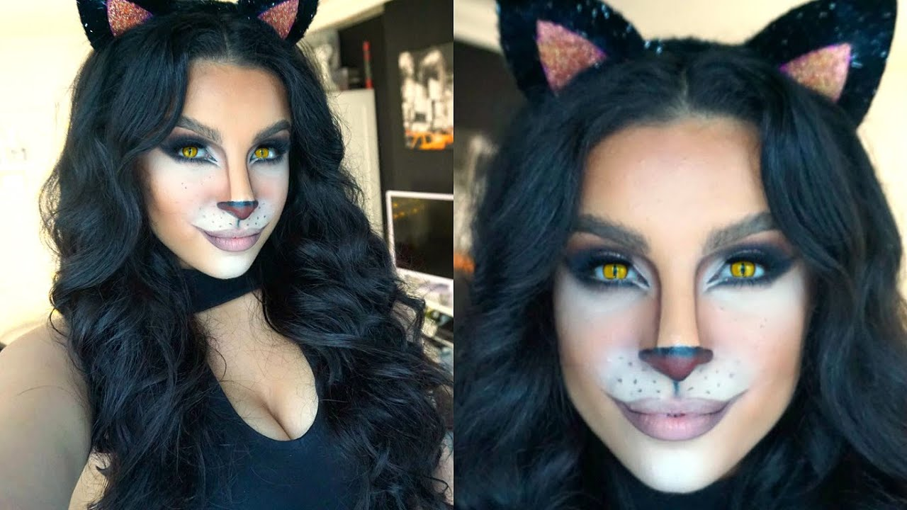 Feline Glam Halloween Makeup Tutorial | 2015 | Makeup By Leyla ...