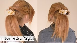 Cute Winter Ponytail for Medium Thick Hair