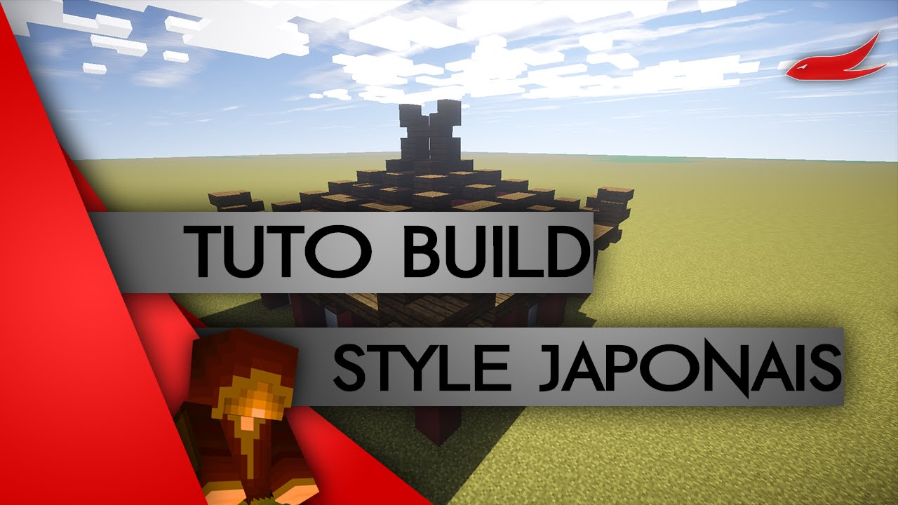 minecraft tuto construction le style japonais youtube. Black Bedroom Furniture Sets. Home Design Ideas