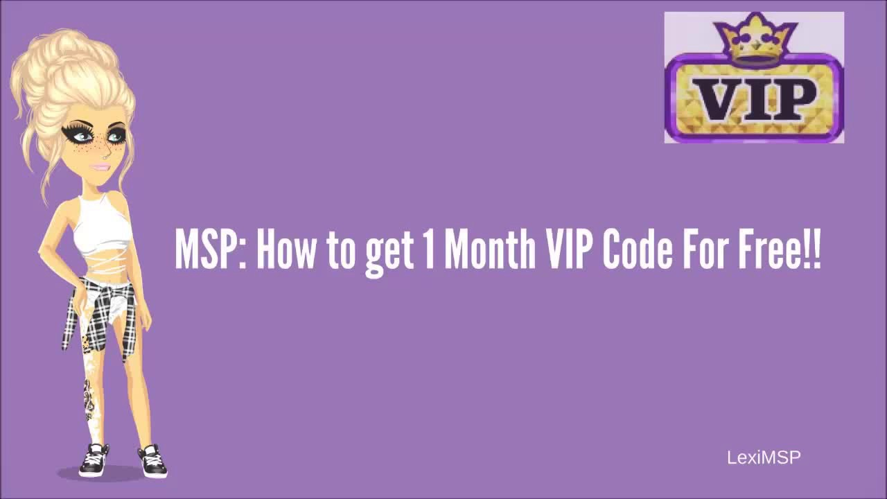 ❤MSP: How to get Free 1 Month VIP Code!❤