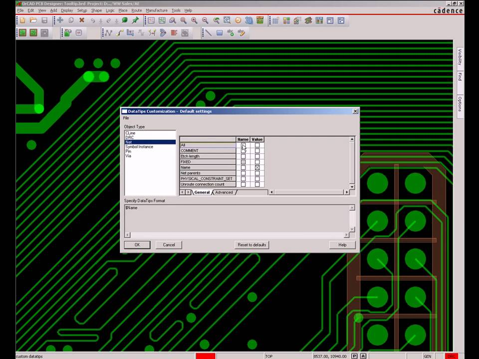 OrCAD PCB Editor - Custom Tooltips - YouTube
