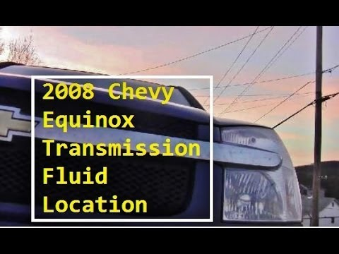 Automatic Transmission Fluid Dipstick Location - 2008 Chevy Equinox LS