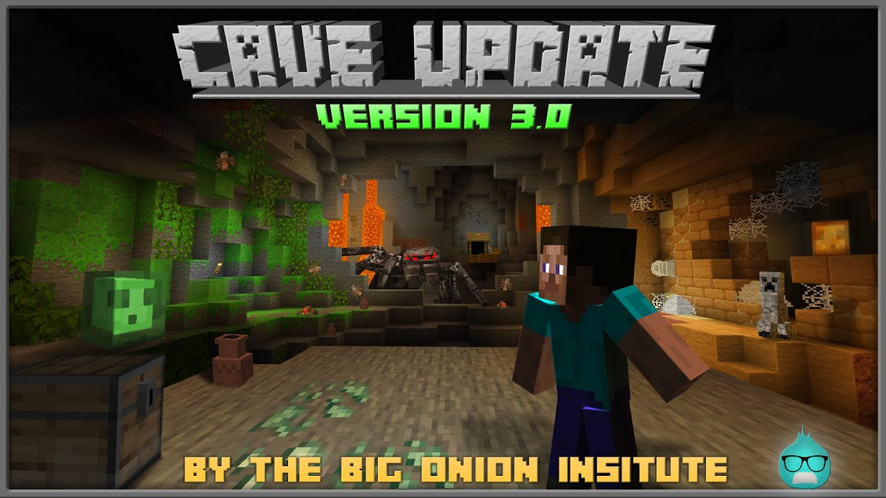 Cave Update Add-on Version 100 (10.106) [Even More Blocks, Mobs, and