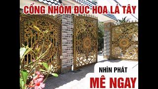Cổng Nhôm Đúc Hoa Lá Tây - Tiền Giang