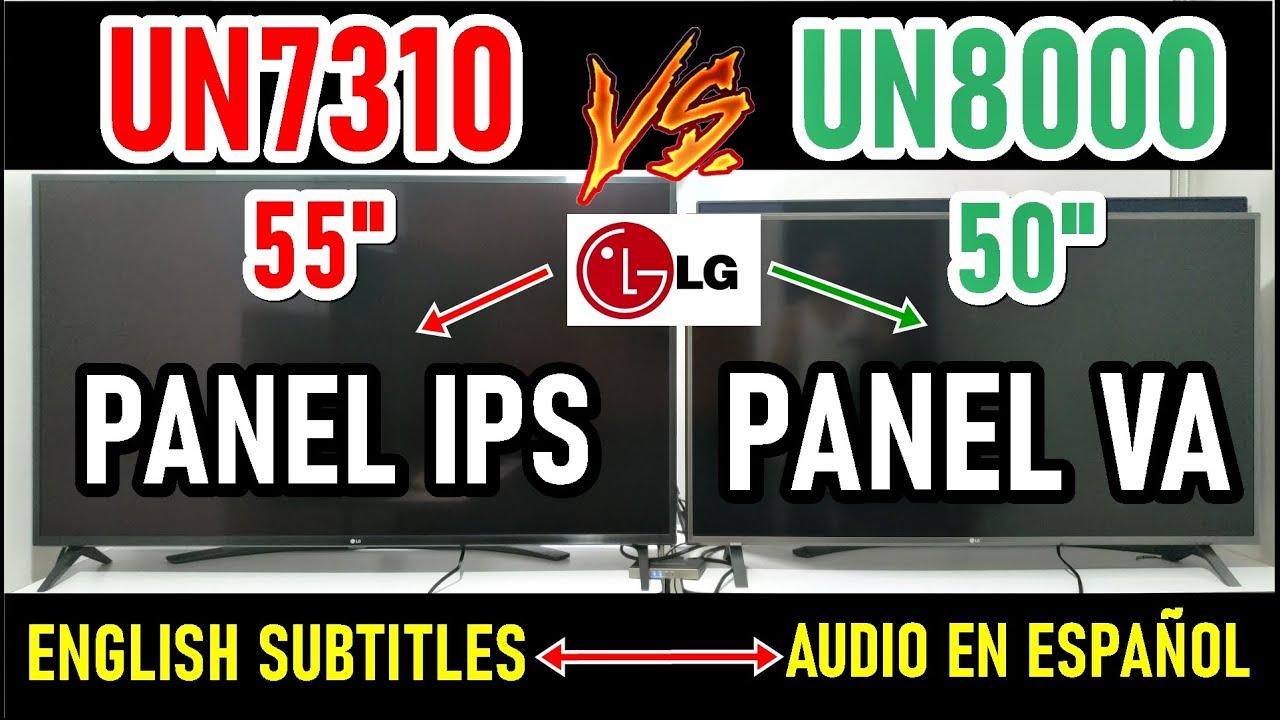 LG UN7310 (UN7300) vs UN8000: Panel IPS vs Panel VA - Televisores LG 4K - ENGLISH SUBTITLES