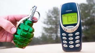 EXPERIMENT : Will The NOKIA 3310 Stand? NOKIA 3310 vs