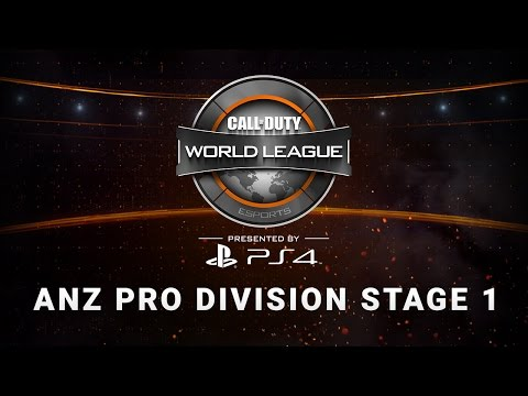 1/19 Australia/New Zealand Pro Division Live Stream - Official Call of Duty® World League