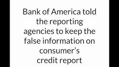 Case study of suing Bank of America, Experian, and TransUnion under FCRA for false credit reporting