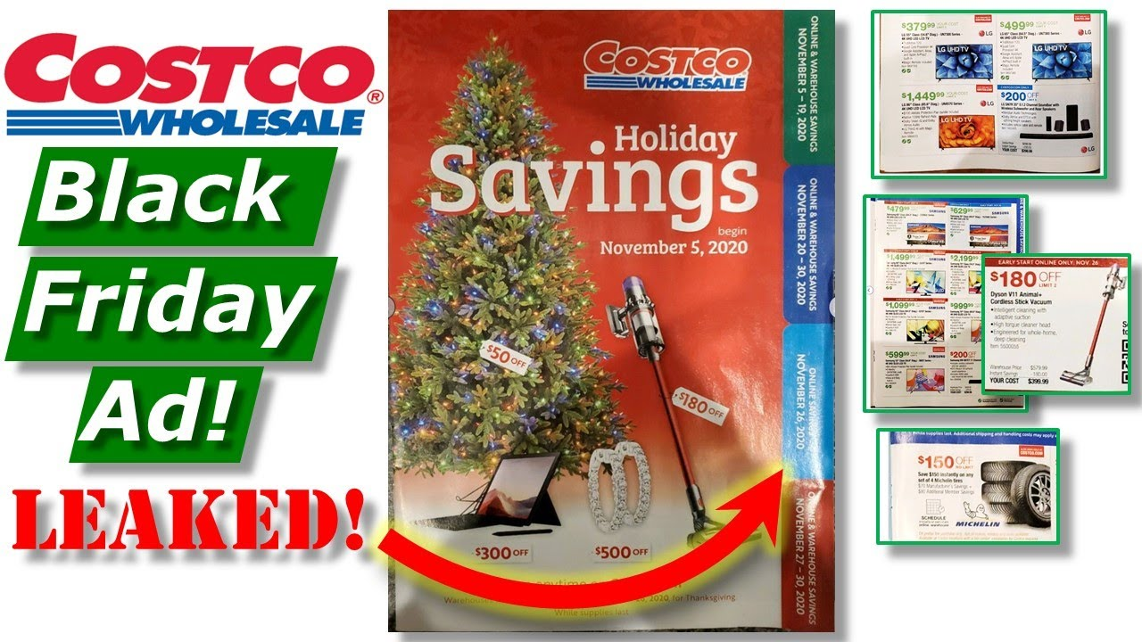 Costco Black Friday Ad Leaked Deals Nov 2020 Tools Vacs Remodeling Tech Tvs Christmas Youtube