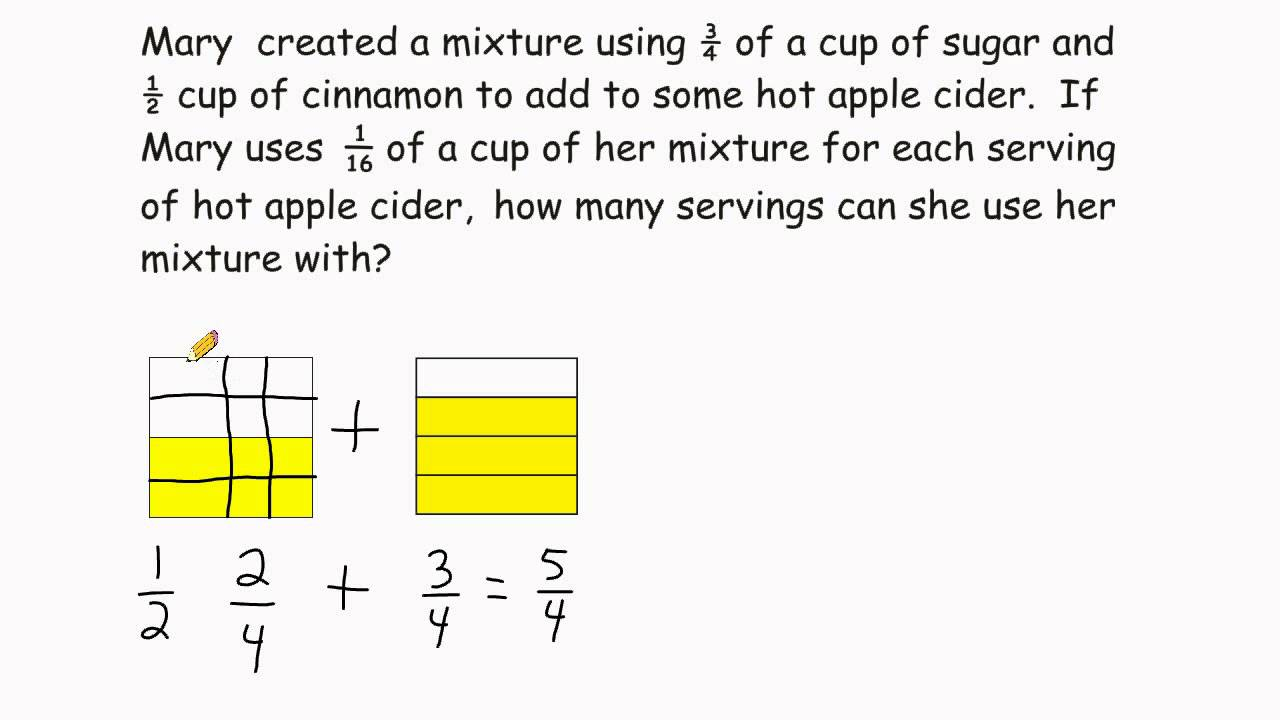 Fraction Division - Solving Word Problems
