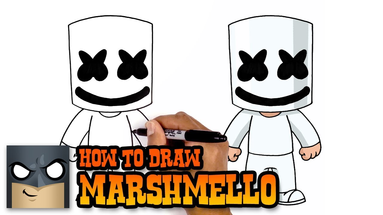 How To Draw Marshmello Art Tutorial Youtube