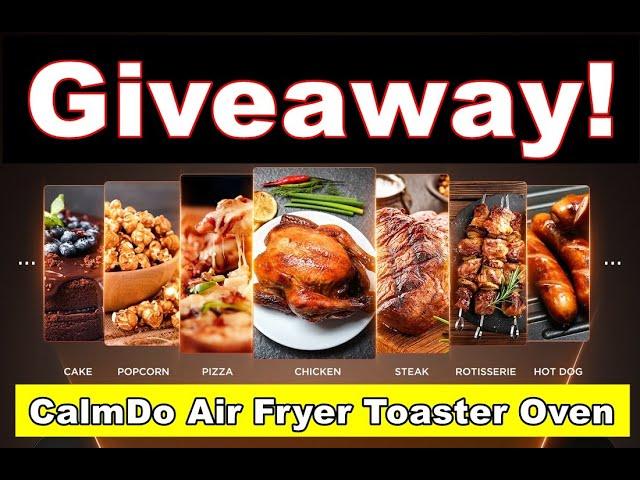 CalmDo Air Fryer Toaster Oven #Giveaway | CaribbeanPot.com
