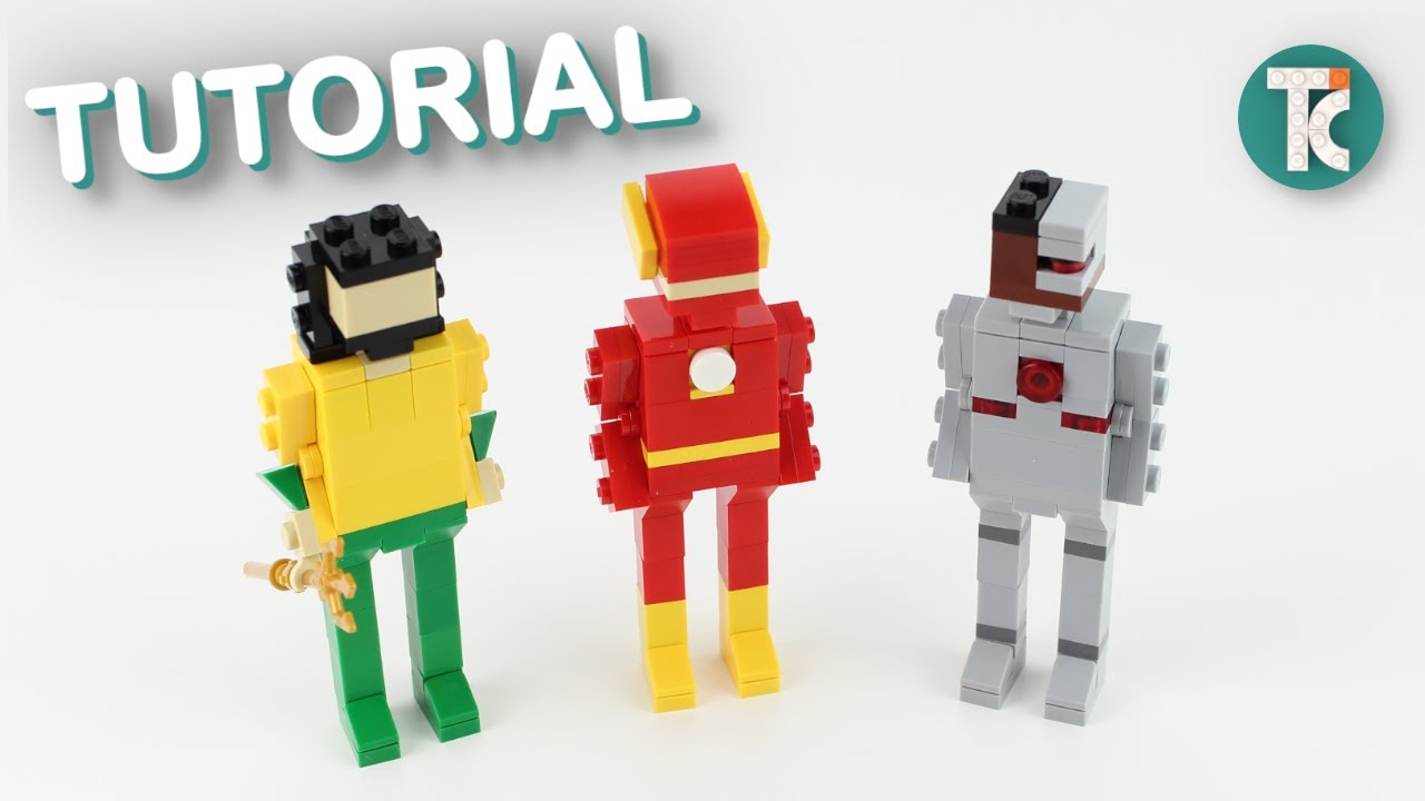 LEGO FLASH, AQUAMAN and CYBORG (Justice League Tutorial)