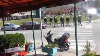 DOLAZAK CIGANA I PRATNJA POLICIJE U NOVI PAZAR