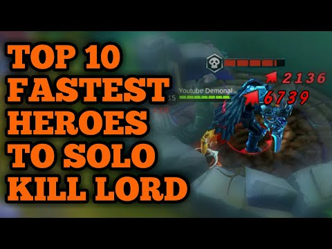 TOP 10 FASTEST HEROES TO SOLO KILL LORD | MOBILE LEGENDS (PART 2)