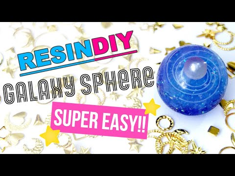 Easy Way to Make Resin Galaxy Sphere