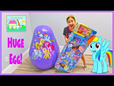 Huge New My Little Pony Egg Surprise Toys Opening w/ Giant Castle Toy Surprises for Kids!