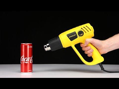 SCIENCE EXPERIMENTS – 600 degree HEAT GUN vs COCA COLA by Mr. Hacker