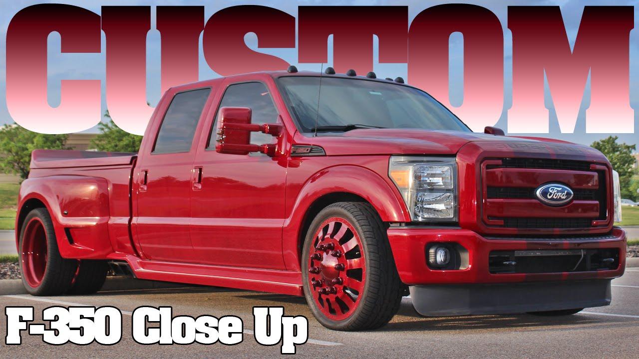 Custom Ford F 350 Diesel Powerstroke Truck Walk Around 2015 Youtube