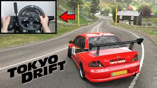 Forza Horizon 4 Sean's Mitsubishi Evo (Steering Wheel + Shifter) Tokyo Drift Gameplay