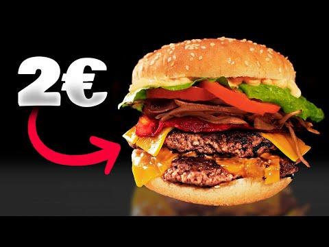 Haz una DOBLE CHEESEBURGUER 🍔 BARATA pero BUENÍSIMA por 2€