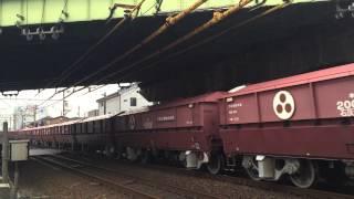 JR貨物国鉄色 EF64-1016赤ホキ牽引 (5783レ) 熱田〜笠寺にて