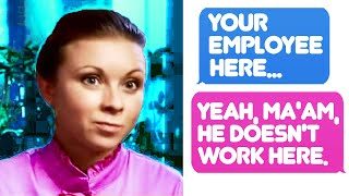 r/IDontWorkHereLady - I Don't Care If You're Off Duty, You Help Customers! I don't work here at all