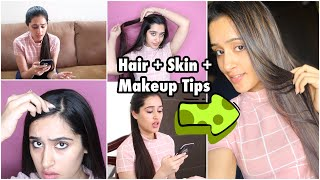 HAIR HACKS - How to Stop Hairfall, Get Long , Silky Hair |