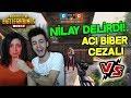 EŞİM İLE ACI BİBER YEME CEZALI VS ATTIK ! (NİLAY DELİRDİ) - PUBG Mobile