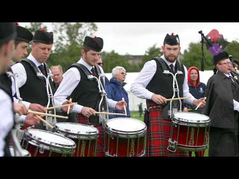 Canterbury Caledonian Pipe Band Drum Corps 2018 WPBC Medley