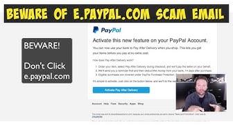 Beware e.PayPal.com Email Scam