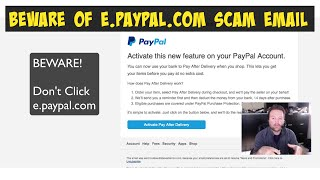 Beware e.PayPal.com Email Scam(I get these emails all the time and I think this is an email scam. A phishing attempt to get your PayPal account credentials and it could do you a lot of financial ..., 2015-01-16T16:15:11.000Z)