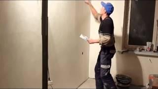 видео технология шпаклевания стен под покраску
