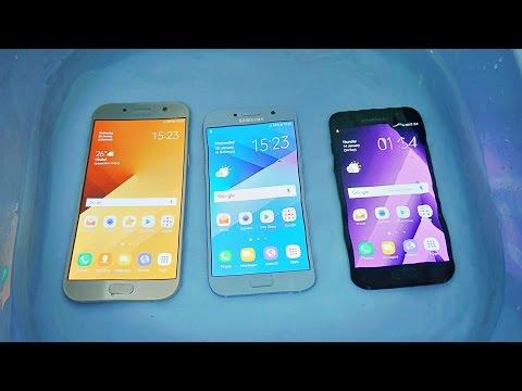 Samsung Galaxy A7 vs A3 vs A5 2017 - Water Test! (4K)